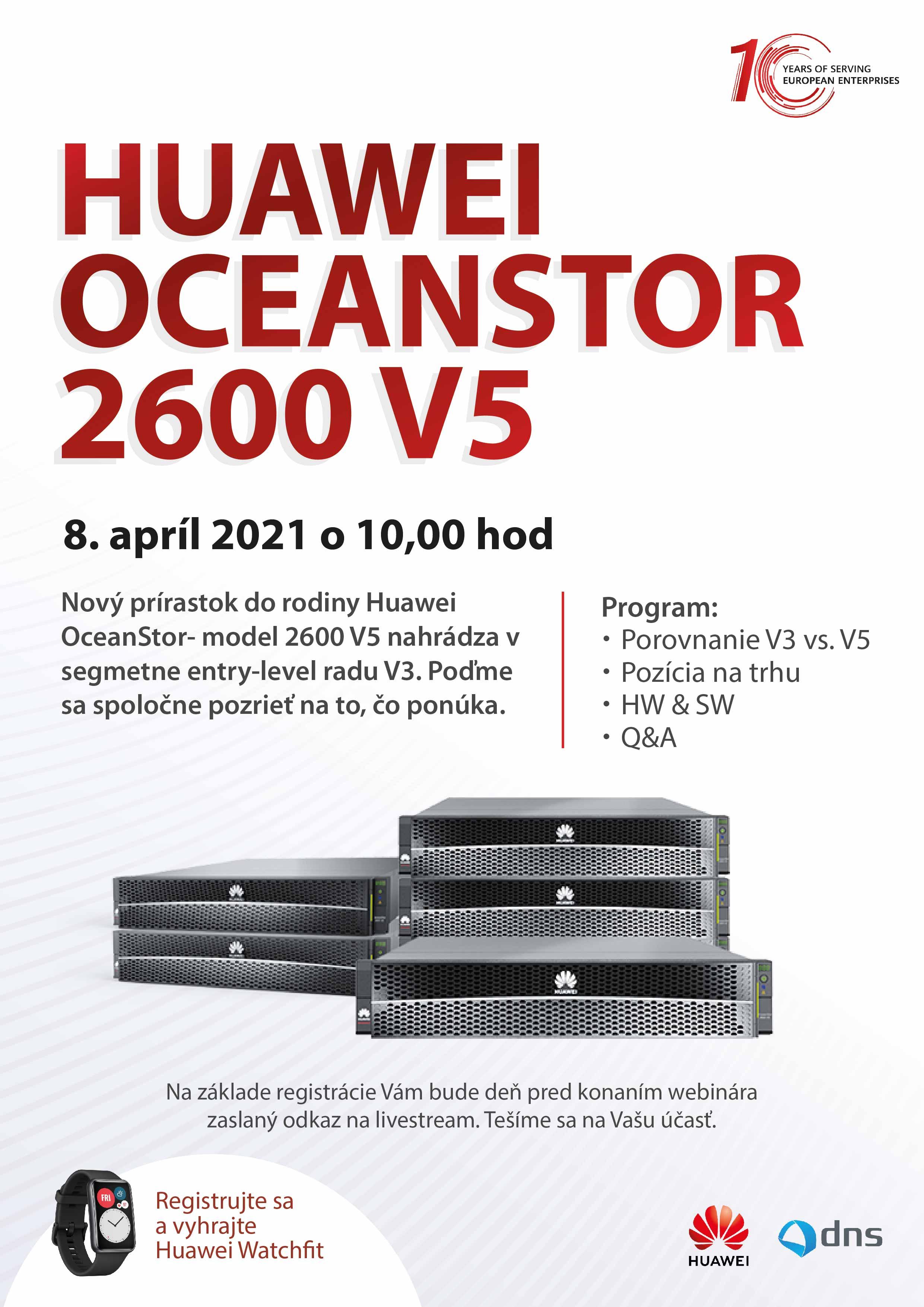 Huawei OceanStor 2600 V5 webinar